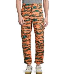 french connection men's camo tech pants - paradise orange - size 30