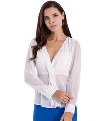 blusa escote nudo blanco nicopoly