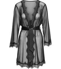 black maia lace kimono