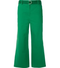nk belted tailored trousers - green