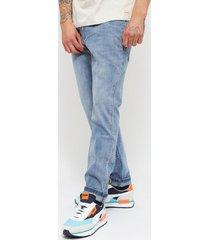 jeans ellus basico skinny tiro medio lagoon elastic bleach azul - calce skinny