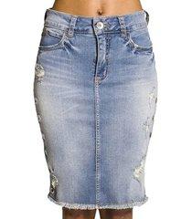 saia jeans média colcci