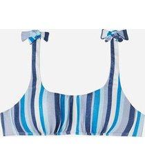calzedonia padded tank-style top swimsuit dubai woman blue size 5