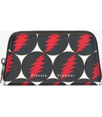 proenza schouler grateful dead trapeze zip compact wallet grateful dead print/multicolour one size
