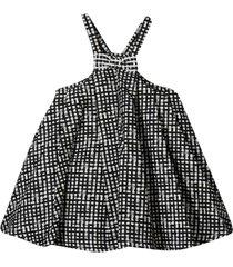simonetta checked flared dress