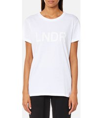 lndr women's organic cotton t-shirt - white - l - white