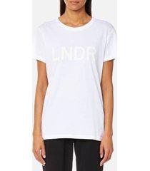lndr women's organic cotton t-shirt - white - l - white