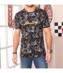camiseta aquiles negro para hombre croydon