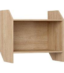 armário s/ porta carvalho mel be mobiliário