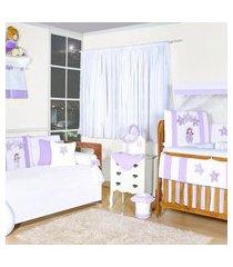 quarto completo padroeira baby boneca mariá roxo