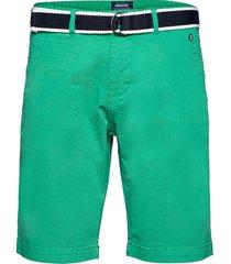 dks belted bermuda shorts shorts chinos shorts grön sebago