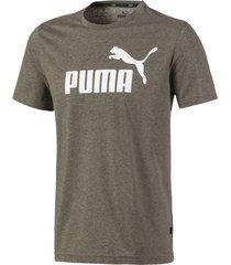 camiseta gris oscuro puma essentials heather tee 852419-80