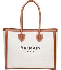 balmain b-army shopper 42-canvas & logo