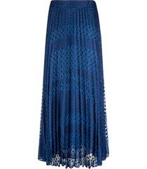 emporio armani polka-dot pleated lace skirt