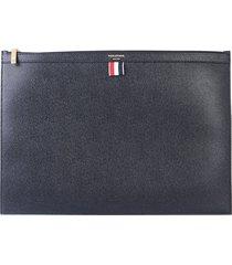 thom browne designer men's bags, large flat leather clutch