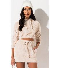 akira hibernate fuzzy mini skirt