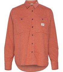 worker shirt overhemd met lange mouwen rood lee jeans