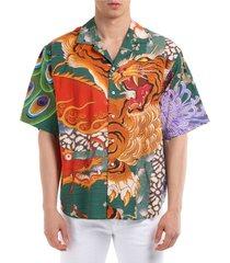 camicia uomo maniche corte zodiac