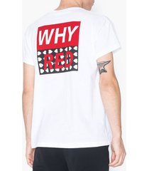 whyred nicolas box logo heart t-shirts & linnen white