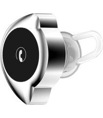 audífonos bluetooth, d4 mini inalámbrico inalámbrico audifonos bluetooth manos libres  v4.1 auricular anti-sudor auriculares para el deporte pequeña luz media-luna auricular de micrófono de forma (negro plata)