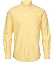 andré button down shirt skjorta business gul morris