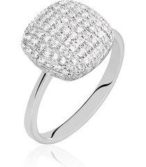 anello in oro bianco e diamanti 0,37 ct per donna
