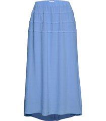 rodebjer kadiha crepe knälång kjol blå rodebjer