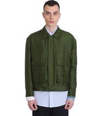 loewe jacket in green polyester