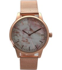 marble mesh band watch