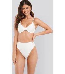 na-kd swimwear structured high waist bikini panty - white