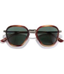 sunski bernina 47mm polarized sunglasses in caramel/forest at nordstrom