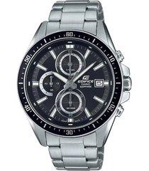 reloj casio edifice analogo hombre cristal zafiro  efr-s565d-1a- negro