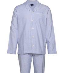 pajama set shirt classic stripe pyjama blauw gant