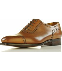 new handmade oxford brogue style shoes, mens custom size tan color dress shoes