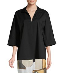 nicole stretch cotton tunic blouse