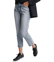 high rise straight-w jeans