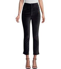 velveteen cropped pants