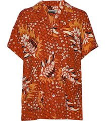 gaeb w blouses short-sleeved orange napapijri