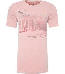 t-shirt masculina tinturada primeiras - rosa