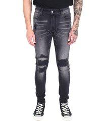 'underwork' denim jeans