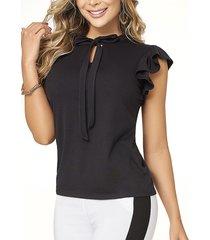 blusa alicia negro  para mujer croydon