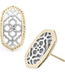kendra scott openwork oval stud earrings