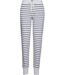 long pants pyjamasbyxor mjukisbyxor vit schiesser