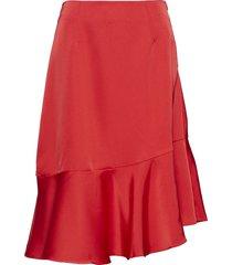 ellie skirt knälång kjol röd by malina