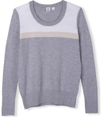chaleco colorblock mujer gris gap