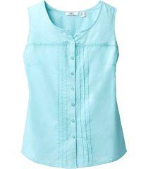 camicetta in cotone senza maniche (blu) - bpc bonprix collection