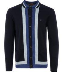 gabicci vintage finsen knitted cardigan - navy v42gm11