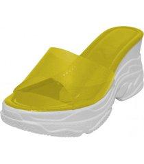 sandalia niza color amarillo takones