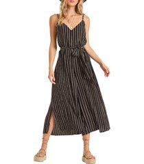 women's billabong shake it again wide leg jumpsuit, size x-small - black