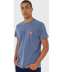 camiseta osklen logo azul